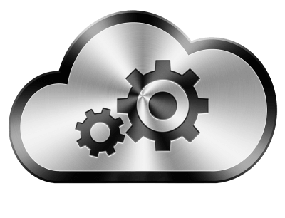 cloud with gears inside